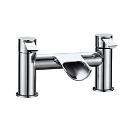 Cooke & Lewis Bamboo Chrome Bath Mixer Tap