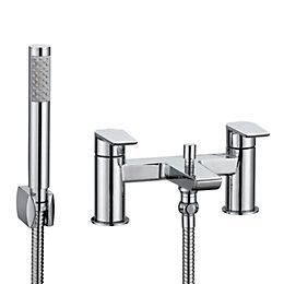 Cooke & Lewis Ricci Chrome Bath Shower Mixer