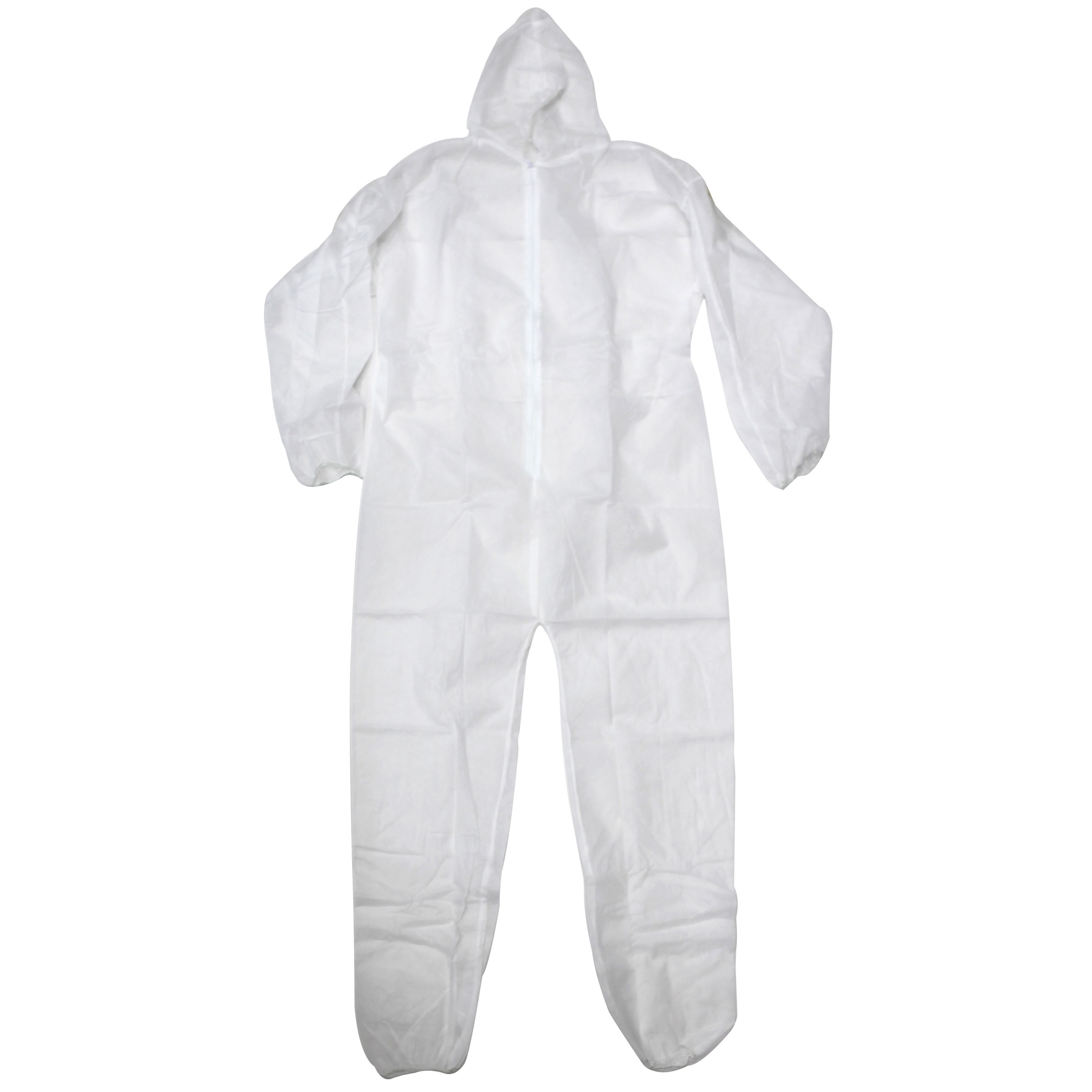 Diall White Disposable Coverall Large Departments Diy