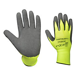 Diall Hi-Vis Gripper Gloves, Size 8, Pair