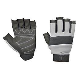 Diall Fingerless Work Gloves, Pair