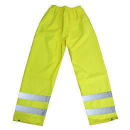 "Diall Tradesman Yellow Waterproof Trousers W27.5"" L30.7"""