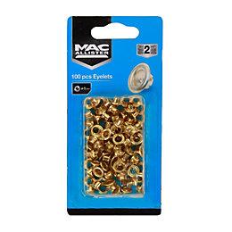Mac Allister Riveter Eyelets (Dia)5mm, Pack of 100