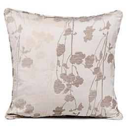 Alessandra Meadow Jacquard Ivory Cushion