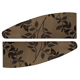 Colours Walton Black & Natural Leaves Jacquard Curtain