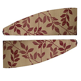 Colours Walton Raspberry Leaves Jacquard Curtain Tie Backs,