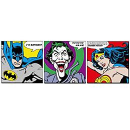 Dc Faces Multicolour Wall Art Set (W)30cm (H)30cm