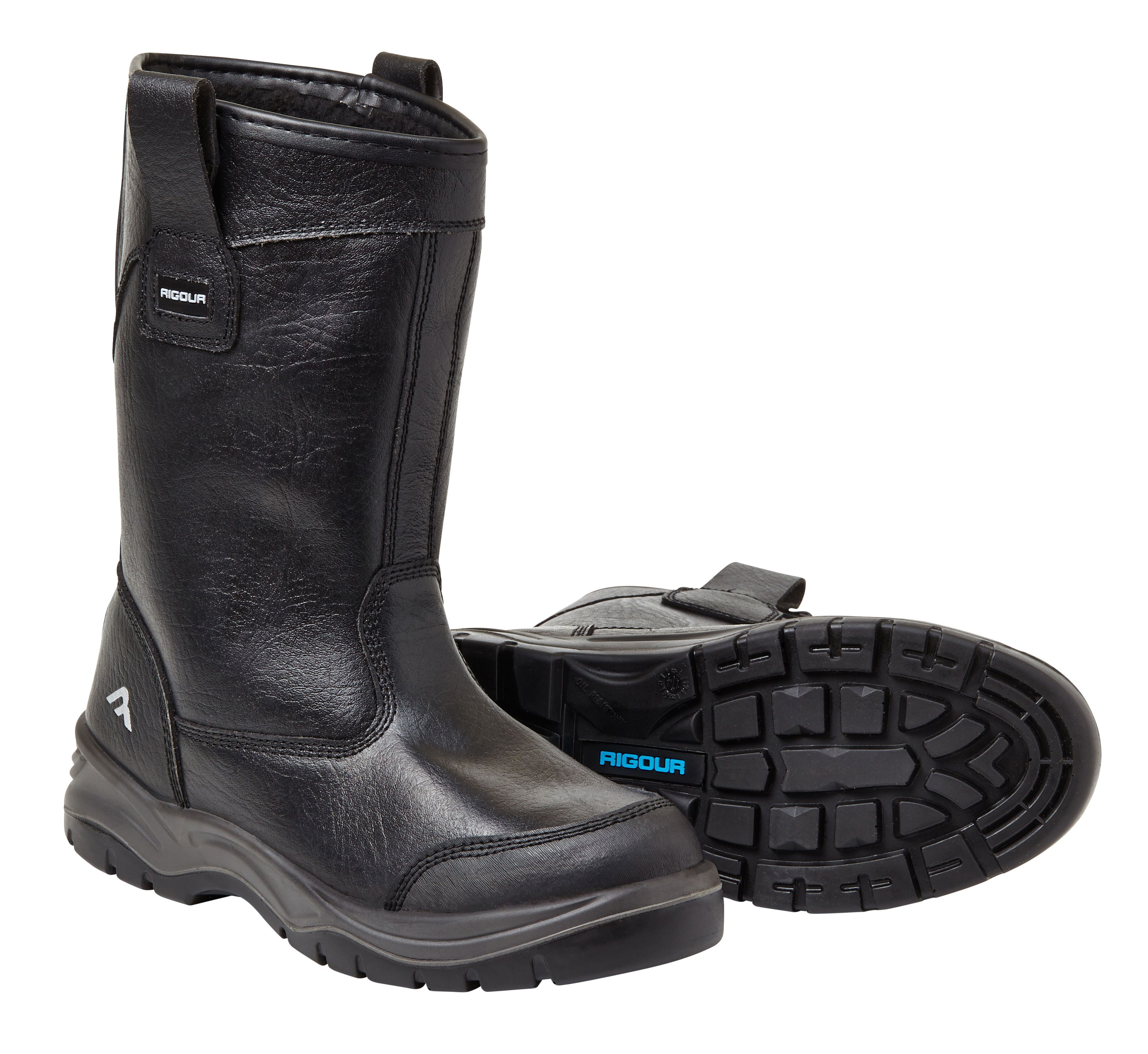 Rigour Black Rigger Boots, Size 7