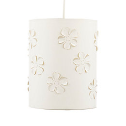 Colours White Floral Laser Cut Light Shade (D)20cm