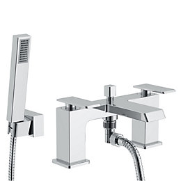 Cooke & Lewis Harlyn Chrome Bath Shower Mixer