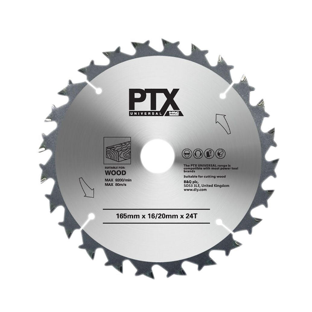 Ptx 24t Circular Saw Blade (dia)165mm