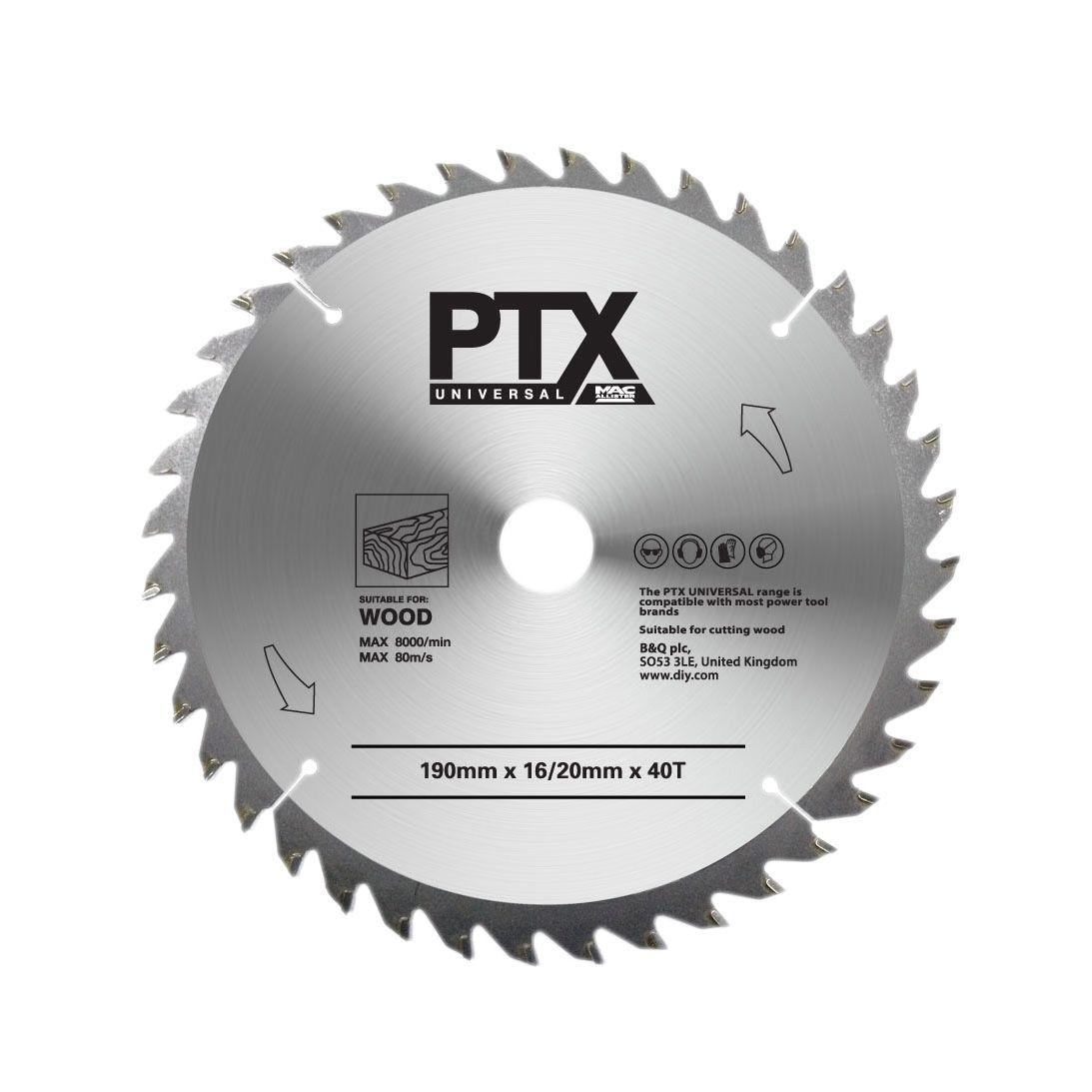 Ptx 40t Circular Saw Blade (dia)190mm