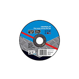 PTX (Dia)115mm Flat Metal Cutting Disc, Pack of