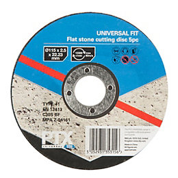 PTX (Dia)115mm Flat Stone Cutting Disc, Pack of