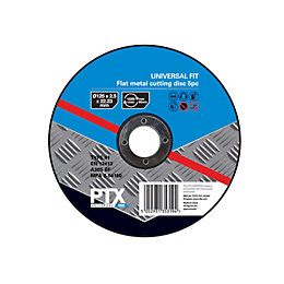 PTX (Dia)125mm Flat Metal Cutting Disc, Pack of