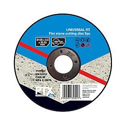 PTX (Dia)125mm Flat Stone Cutting Disc, Pack of