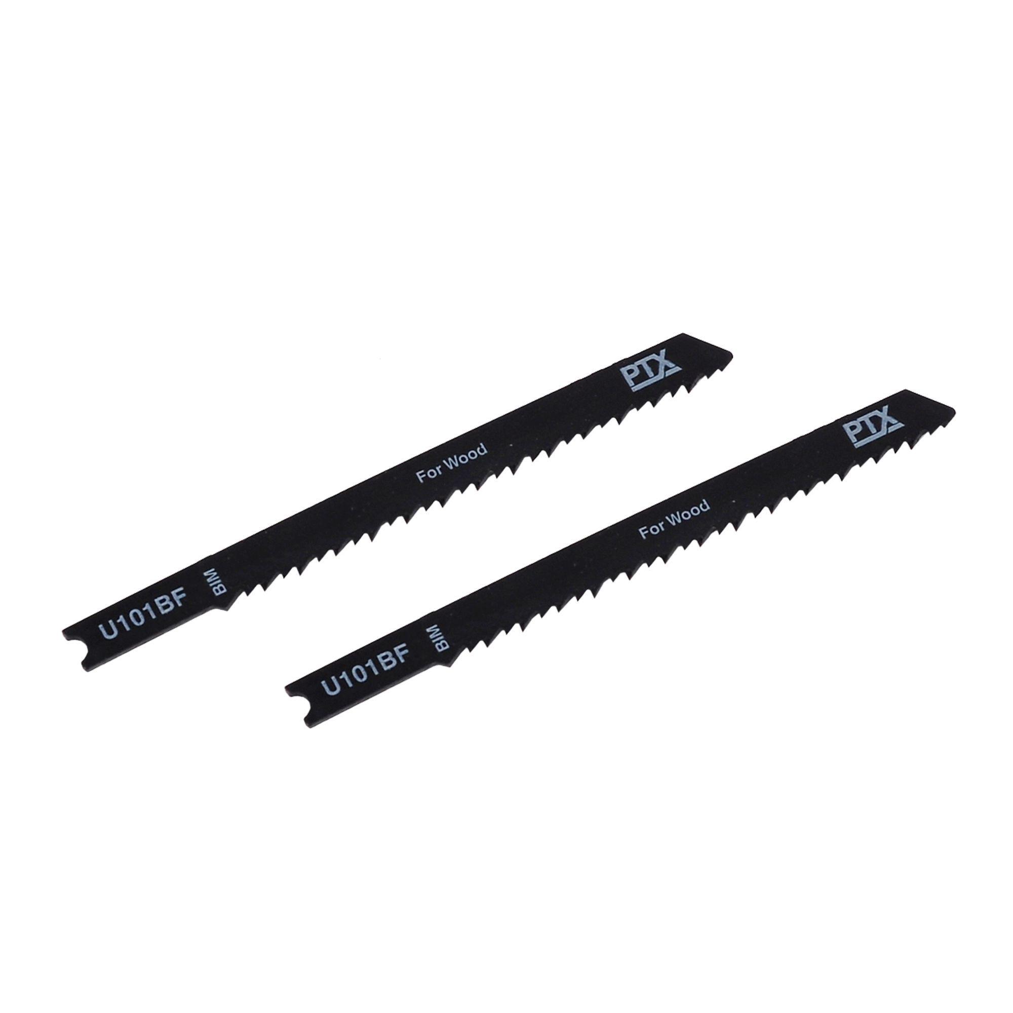 Ptx U-shank Wood Jigsaw Blade U101bf 100mm, Pack Of 2