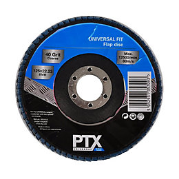 PTX 40 Grit Flap Disc (Dia) 115mm