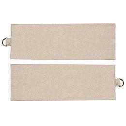 Colours Standard Natural Plain Curtain Tie Backs, Pack