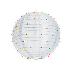Colours White Beaded Pendant Light Shade (D)405mm