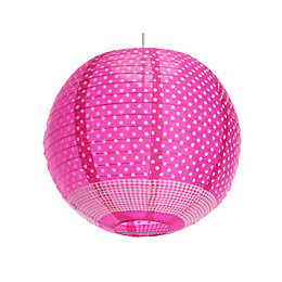 Colours Suisei Pink Printed Polka Dot Pendant Light