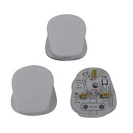 B&Q 13A Plug, Pack of 3
