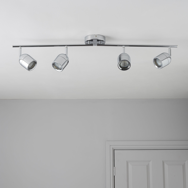 Bathroom Light Switches B&Q bathroom chrome light fixture | diy