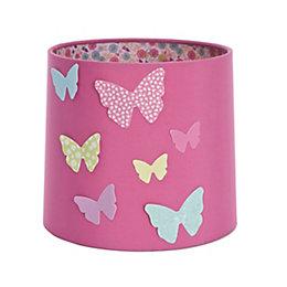 Colours Pink Butterflies Light Shade (D)16.5cm