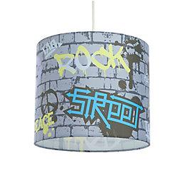 Colours Multicolour Graffiti Light Shade (D)25cm
