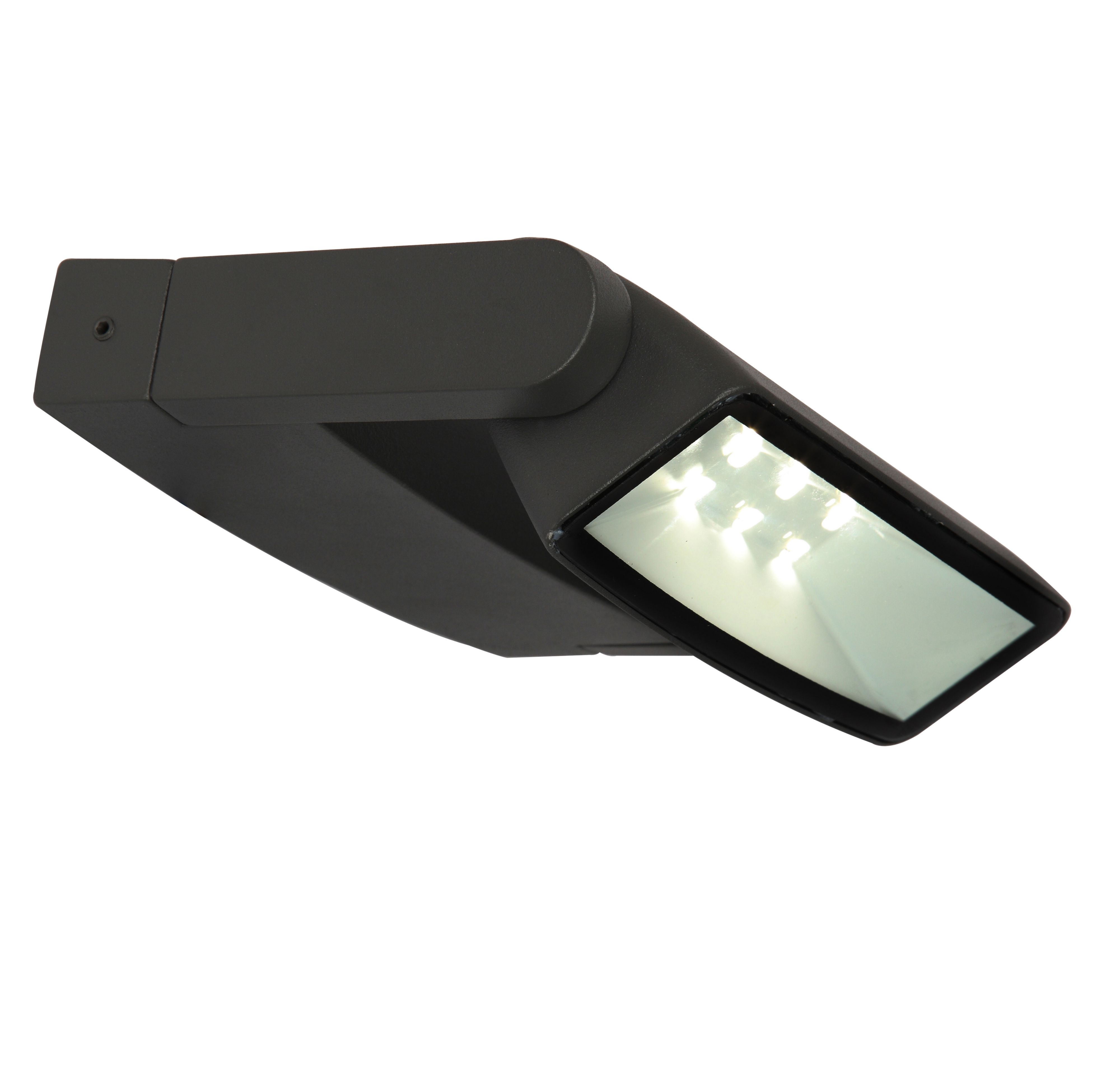 Blooma Evander Dark Grey Mains Powered External Wall Light Departments TradePoint