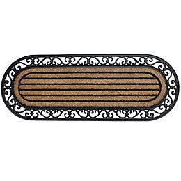 B&Q Black & Natural Coir & Rubber Door