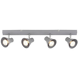 Briggs Concrete Grey 4 Lamp Bar Spotlight
