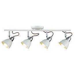 Estiva White 4 Lamp Bow Spotlight