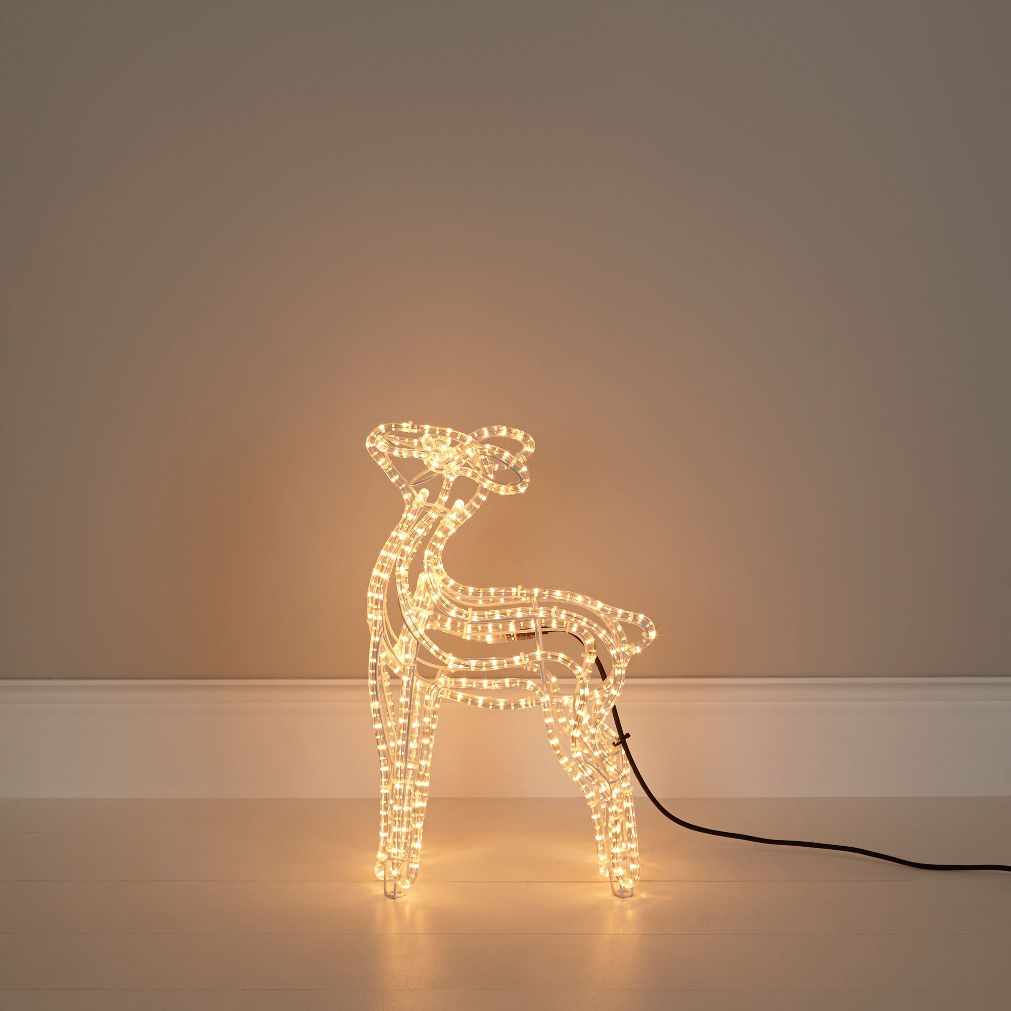 Filament bulb baby reindeer silhouette departments diy for B q christmas decorations