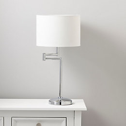 Einthoven Swing Arm Chrome Effect Table Lamp