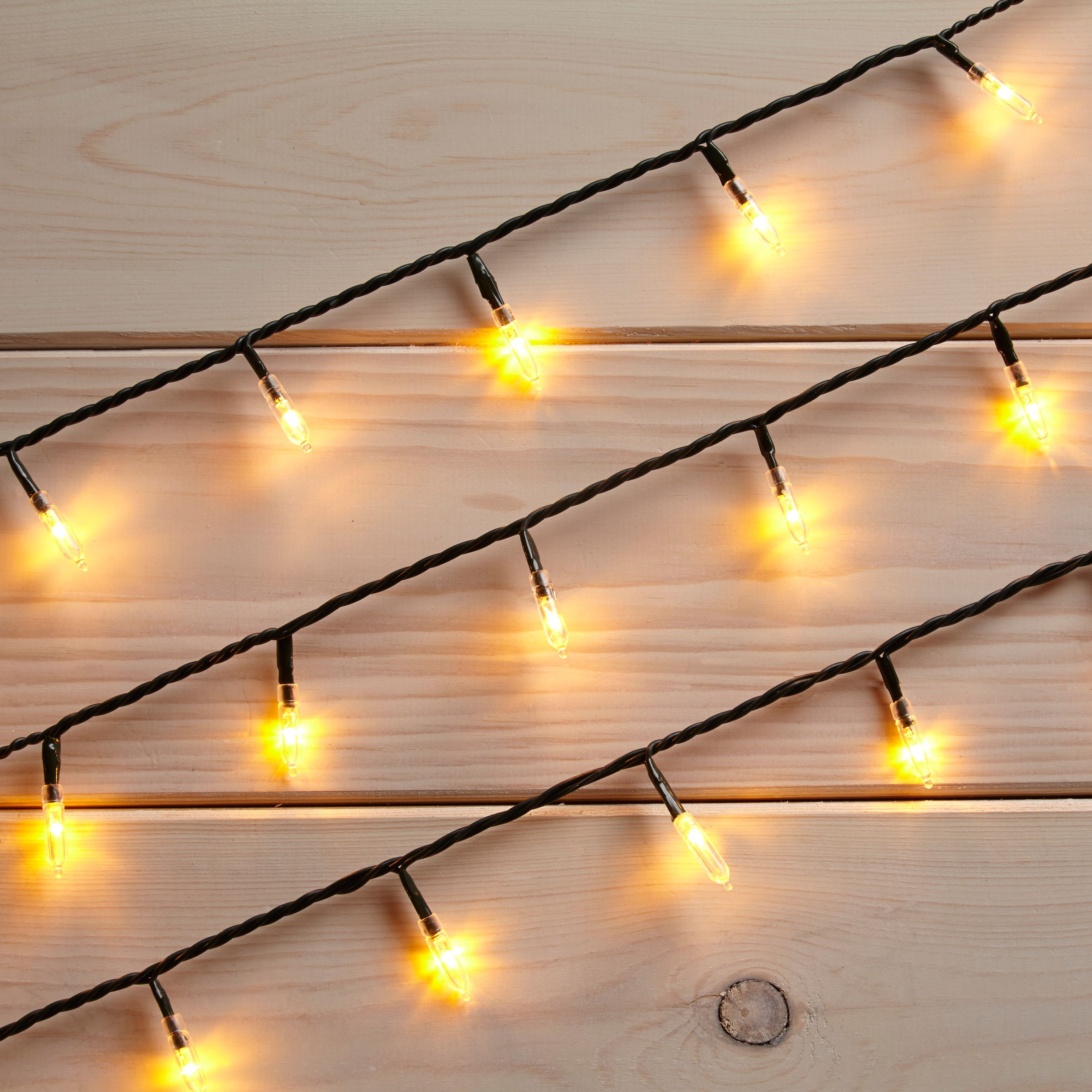 Led String Lights Diy : 100 White LED Fairy String Lights Departments DIY at B&Q