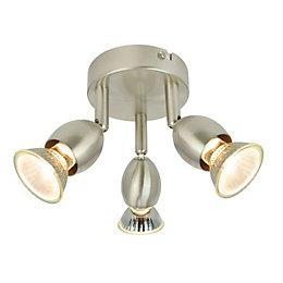 Bellini Satin Chrome Effect 3 Lamp Spotlight