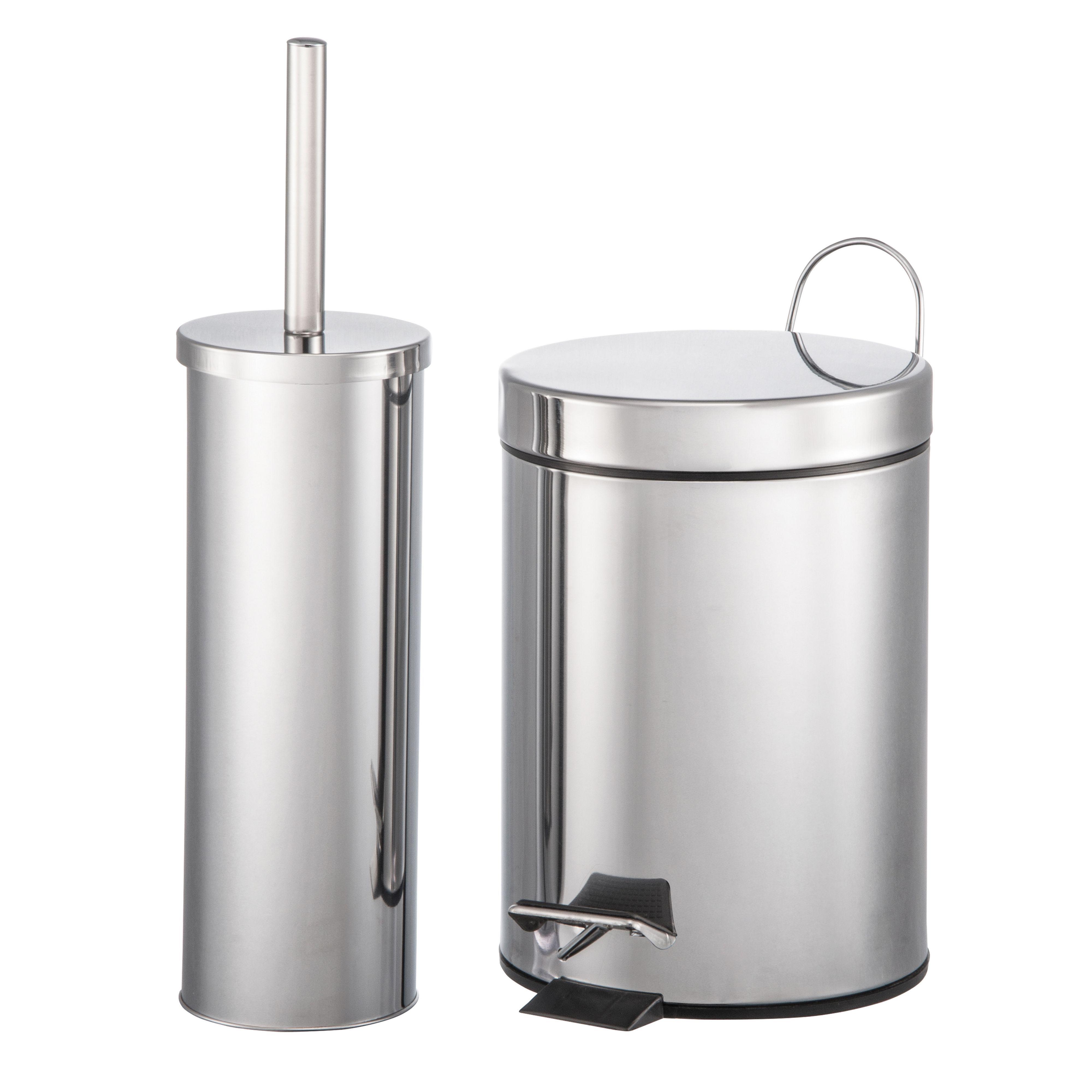 Diy at b q for Black bathroom bin and toilet brush