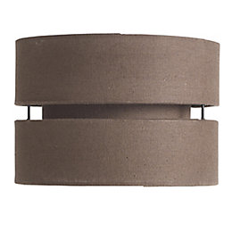 Colours Duo Chocolate 2 Tier Lamp Shade (D)22cm
