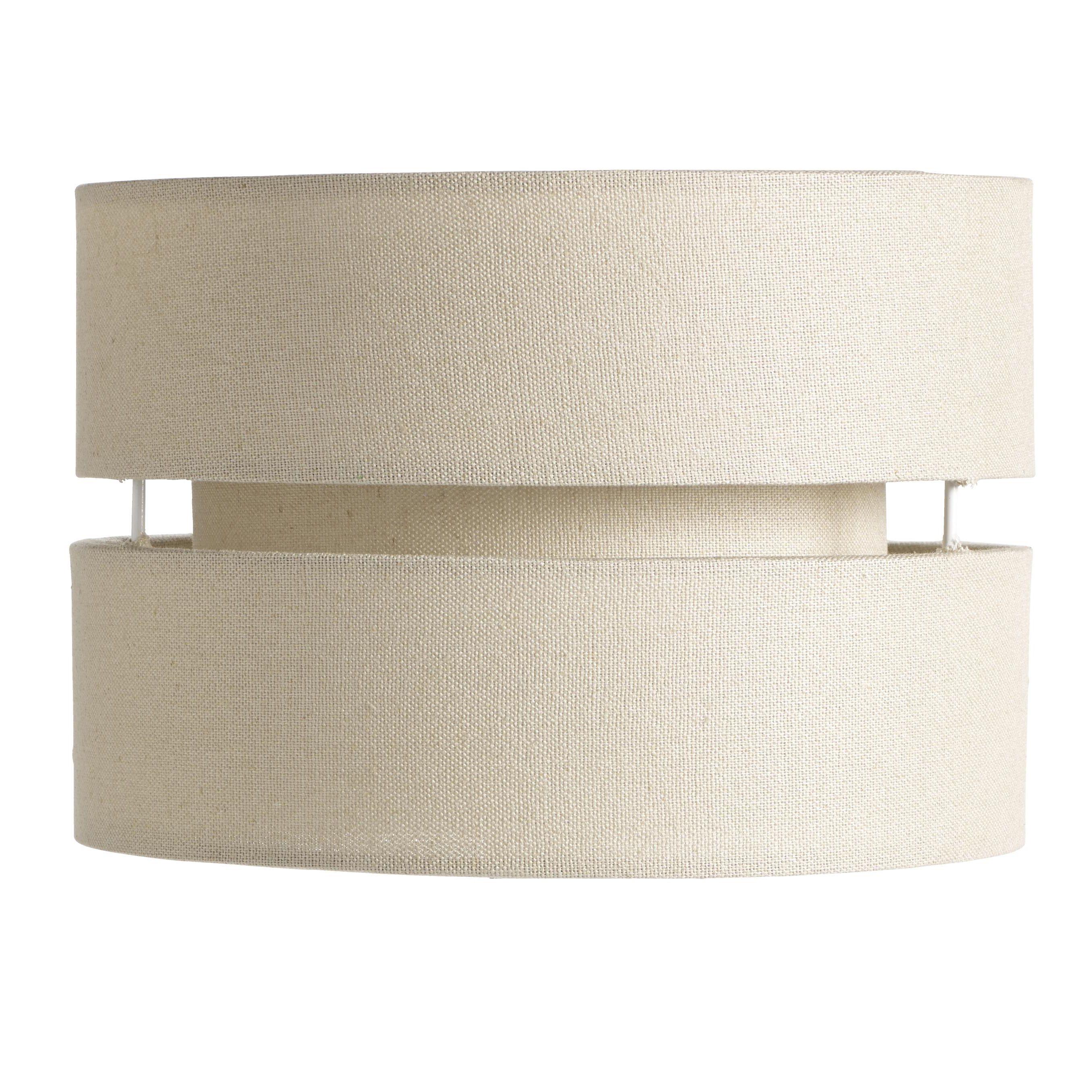 Colours Duo Cream 2 Tier Lamp Shade (d)22cm