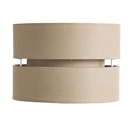 Colours Duo Taupe 2 Tier Lamp Shade (D)22cm