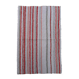 Marilyn Grey & Pink Stripe Cotton Anti-Slip Backing