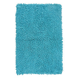 Kapella Aqua Tufty Cotton Anti-Slip Backing Bath Mat