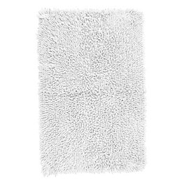 Kapella White Tufty Cotton Anti-Slip Backing Bath Mat