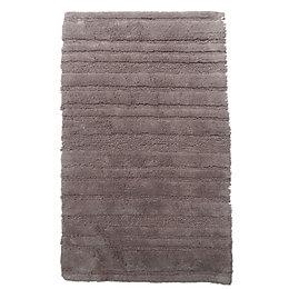Newlyn Taupe Stripe Cotton Anti-Slip Backing Bath Mat