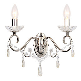 Chesworth Chandelier Polished Nickel Wall Light