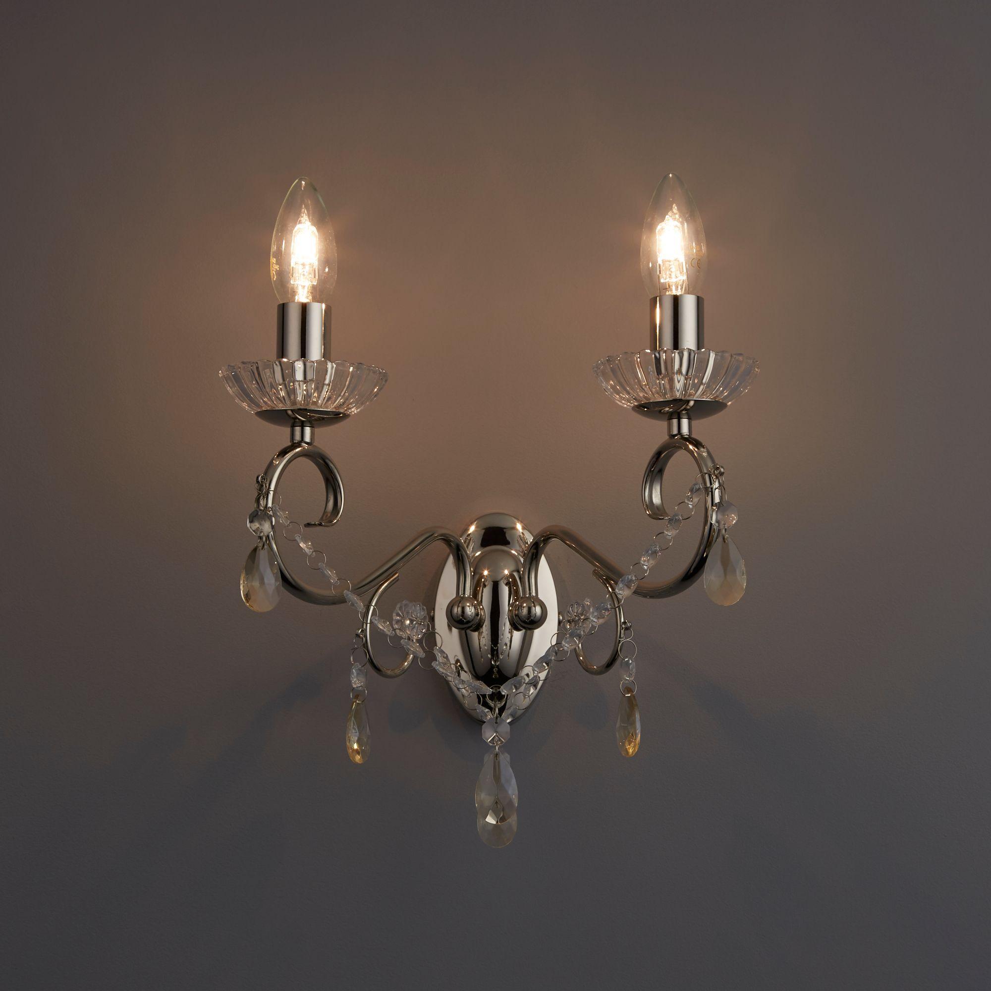 Chandelier Lighting B Q: Chesworth Chandelier Polished Nickel Wall Light