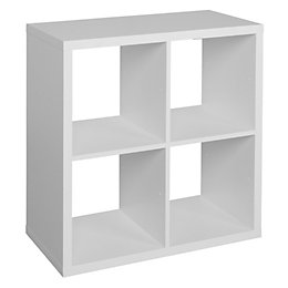 Form Mixxit White 4 Cube Shelving Unit (H)740mm