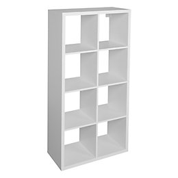 Form Mixxit White 8 Cube Shelving Unit (H)1420mm