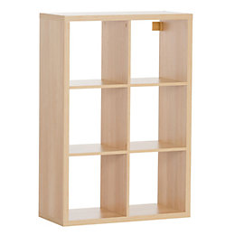 Form Mixxit Oak Effect 6 Cube Shelving Unit